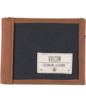 Volcom Hybrid Brown & Black Bifold Wallet