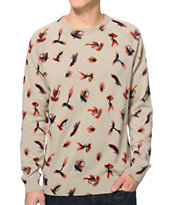 Volcom Knogger Fly Tan Crew Neck Sweater