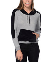 Volcom Lace A Lot Heather Grey Pullover Hoodie