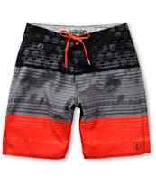 Volcom Lido Grey & Red Stripe 20 Board Shorts