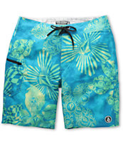 Volcom Lido Weedo Blue 20  Board Shorts