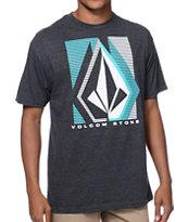 Volcom Lines Charcoal T-Shirt