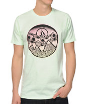 Volcom Mount Scary Neon Mint Green Tee Shirt