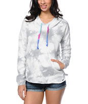Volcom My Dream Dye Grey Tie Dye Pullover Hoodie