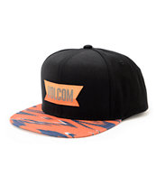 Volcom Native Black & Orange Snapback Hat