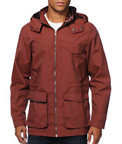 Volcom Nitty Gritty Burgundy Light Hooded Jacket