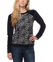 Volcom Notafaze Lace Black Fleece Crew Neck Sweatshirt