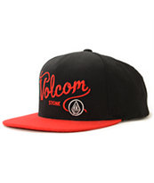 Volcom Papers Black & Orange Snapback Hat
