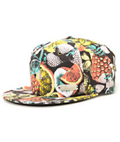 Volcom Queso Sweet Black Fruit Print Strapback Hat