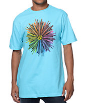 Volcom Raying Aqua Blue Tee Shirt