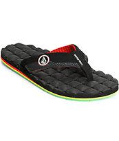Volcom Recliner Rasta Sandals