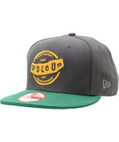 Volcom Rifle Green & Grey New Era Snapback Hat