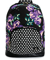 Volcom Schoolyard Purple Floral Backpack