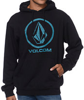 Volcom Sharpie Lock Up Black Pullover Hoodie
