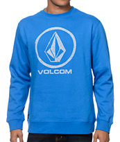 Volcom Sharpie Lock Up Blue Crew Neck Sweatshirt