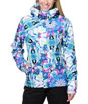 Volcom Slogan White Print 10K Snowboard Jacket
