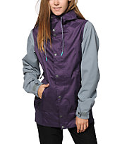 Volcom Stave Purple & Grey 10K Snowboard Jacket