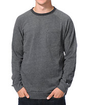 Volcom Stone Black Crew Neck Pocket Sweatshirt