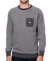 Volcom Stone Grey Pocket Fleece Crew Neck Sweatshirt