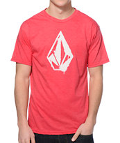 Volcom Stone Spray Heather Red Tee Shirt