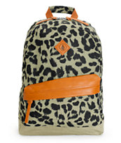 Volcom Supply Leopard Print Backpack
