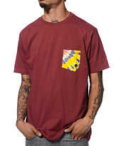 Volcom Symptom Red Pocket Tee Shirt
