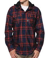 Volcom Tech Chainsaw Navy Hooded Tech Fleece Jacket