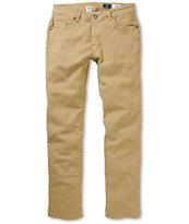 Volcom Vorta Dark Khaki Skinny Jeans