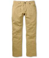 Volcom Vorta Dark Khaki Skinny Twill Pants