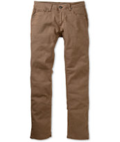 Volcom Vorta Stretch Brown Skinny Jeans