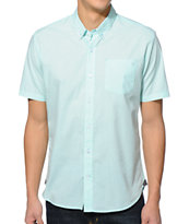 Volcom Weirdoh Aqua Short Sleeve Button Up Shirt
