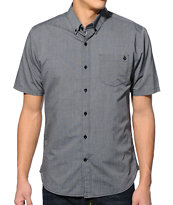 Volcom Weirdoh Charcoal Short Sleeve Button Up Shirt