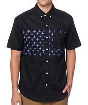Volcom Weirdoh Cross Stripe Button Up Shirt