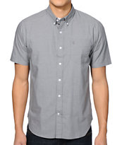 Volcom Why Factor Charcoal Short Sleeve Woven Shirt