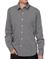 Volcom Why Factor EOE Long Sleeve Charcoal Button Up Shirt