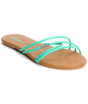 Volcom Women's Awesome Aqua & Brown Sandals