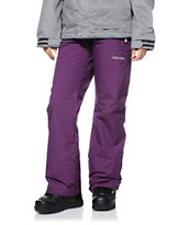 Volcom Women's Boom Purple 8K Snowboard Pants 2014
