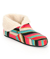 Volcom Women's Good Spirits Multi Stripe Slippers