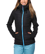 Volcom Women's Leo Black Softshell Snowboard Jacket 2014