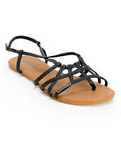 Volcom Women's No Sweat Black & Brown Creedler Sandals
