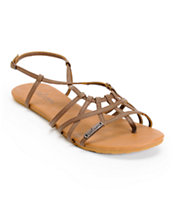 Volcom Women's No Sweat Brown Creedler Sandals