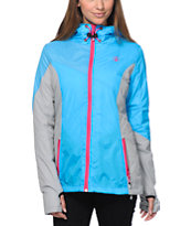 Volcom Women's Nyala Blue & Grey Insulated Jacket