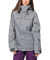 Volcom Women's Shore Grey 10K Snowboard Jacket 2014