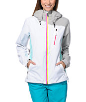 Volcom Women's Stone White & Grey 10K Snowboard Jacket 2014