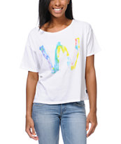 WeSC Girls Aquarelle Dub White Tee Shirt