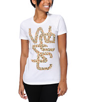 WeSC Girls Spotted Overlay White Tee Shirt