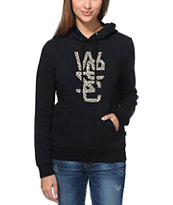 WeSC Spotted Overlay Black Pullover Hoodie