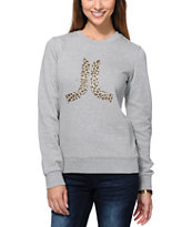 WeSC Women's Icon Grey Crew Neck Sweatshirt