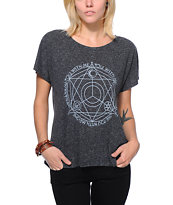 Wenanami Triad Charcoal Dolman Tee Shirt