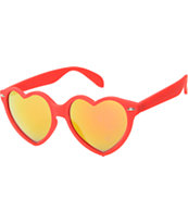 Wild Heart Red & Mirror Sunglasses